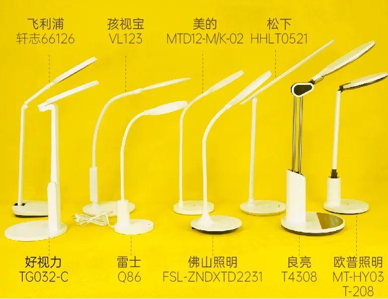 """9款护眼台灯测评:欧普照明等3款未达标;""""AA""""级护眼效果更好"""