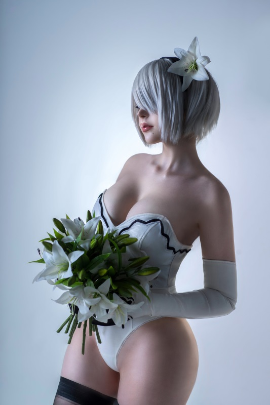 ⭐cos套图⭐Sayathefox – NO.02 2B Floral [10P-131MB]插图2