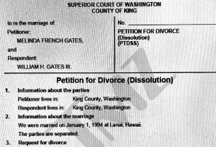 盖茨夫妇签过分割财产的婚前协议?