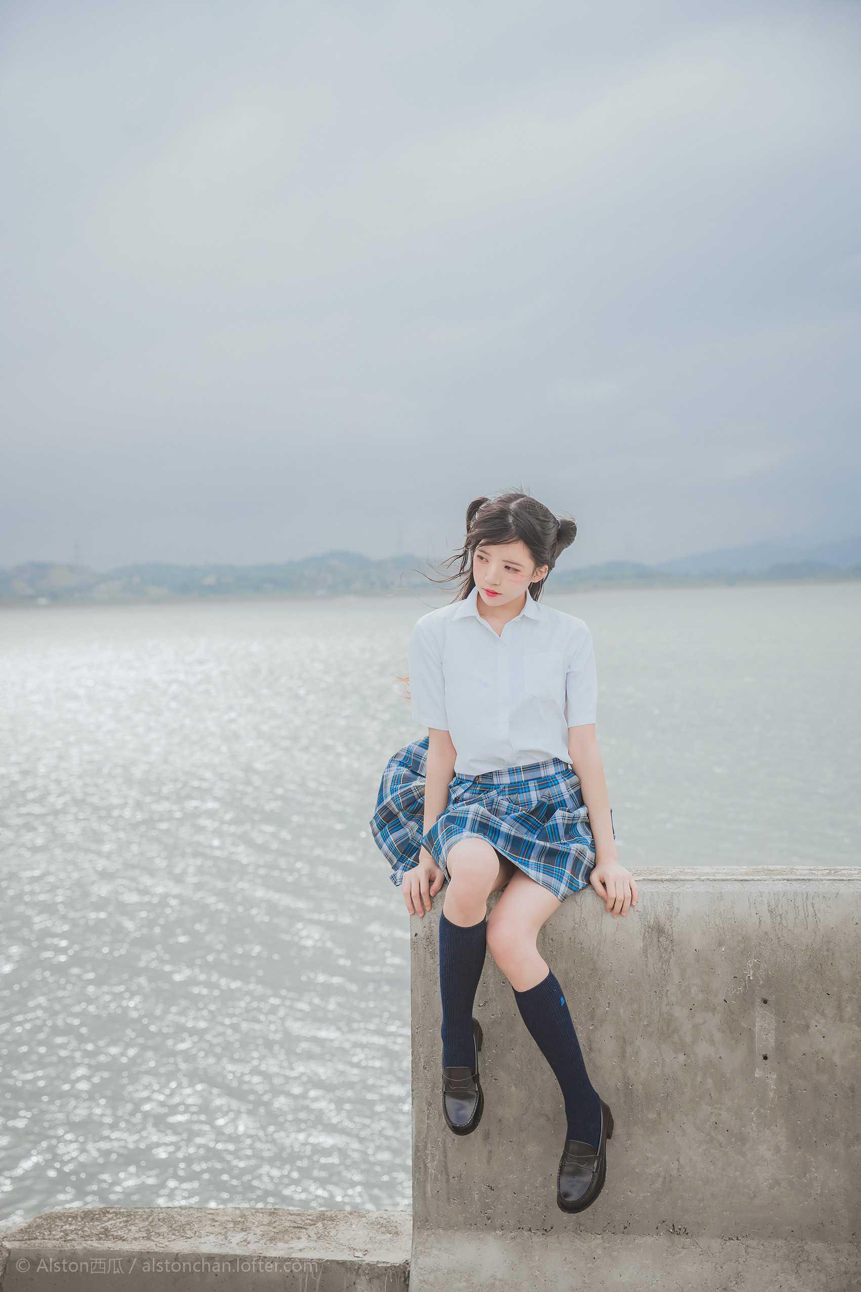 免费⭐微博红人⭐桜桃喵@写真cos-海边(桜桃喵 )插图7