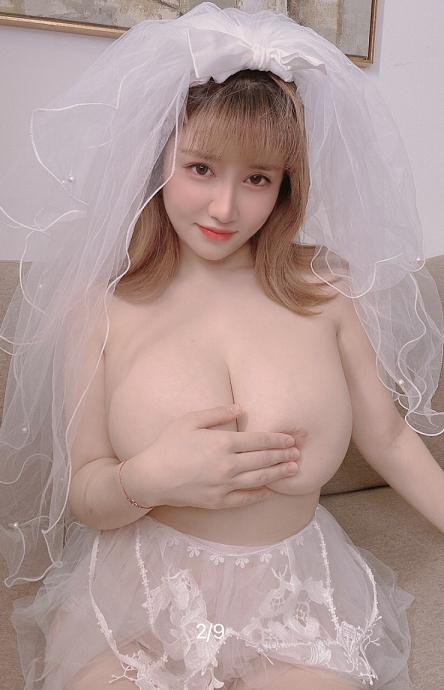 抖音网红周大萌最新婚纱专属福利 9P2V