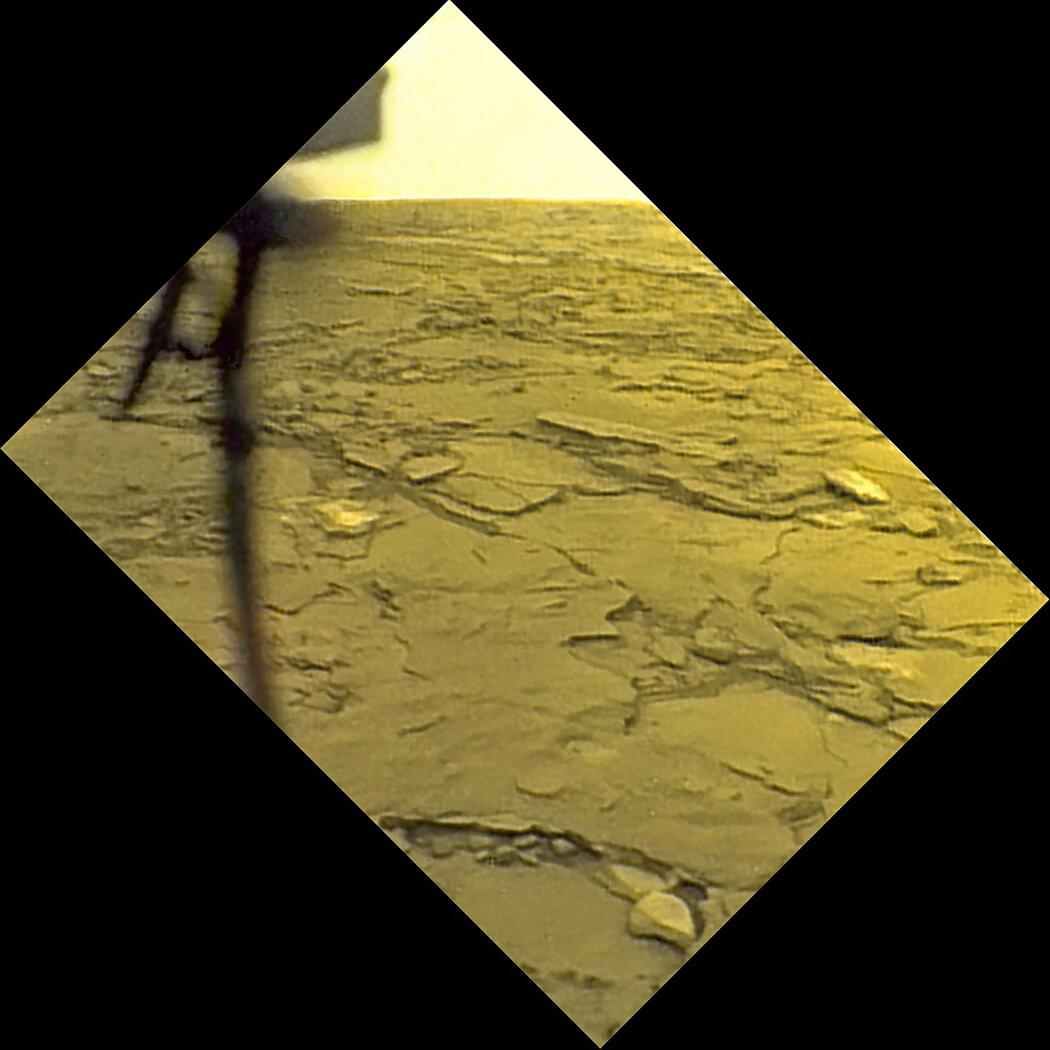 1982年苏联金星14号着陆器拍摄的金星表面照片。