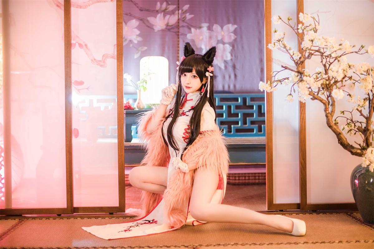 ⭐微博红人⭐Shika小鹿鹿-cos福利图片@爱宕旗袍插图2
