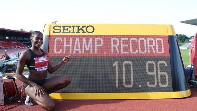 图像加注文字,在女子100米短跑项目,11秒的关口亦频繁被打破。