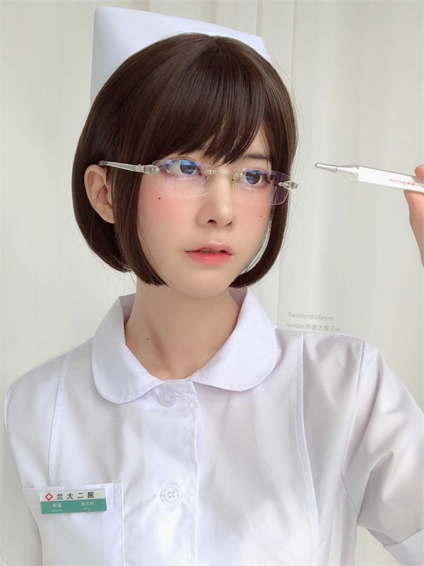 ⭐cos套图⭐眼酱大魔王w NO.022 白护士 [19P-63MB]插图2