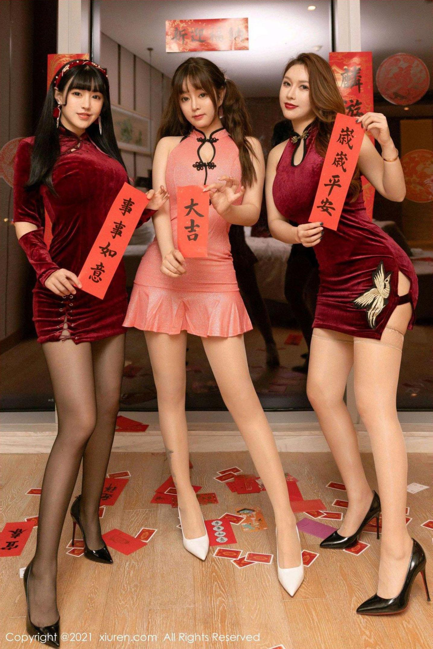 ⭐cos套图⭐秀人网最新新春套图 新年快乐【99P106M】插图1