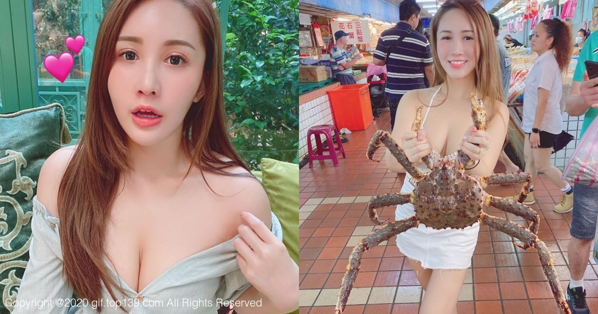 「Bivi华华」逛市场被帝王蟹吓歪,网友却被她的身材吓到