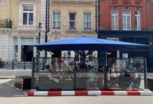 伦敦全面重启前的露天餐厅体验