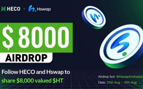 Hswap:完成任务参与瓜分8000枚HT