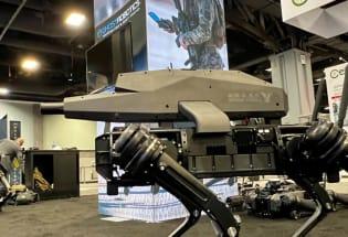 机器狗背上枪成了无人杀手,6.5mm口径1200米射程,制造商已与美澳军队广泛合作