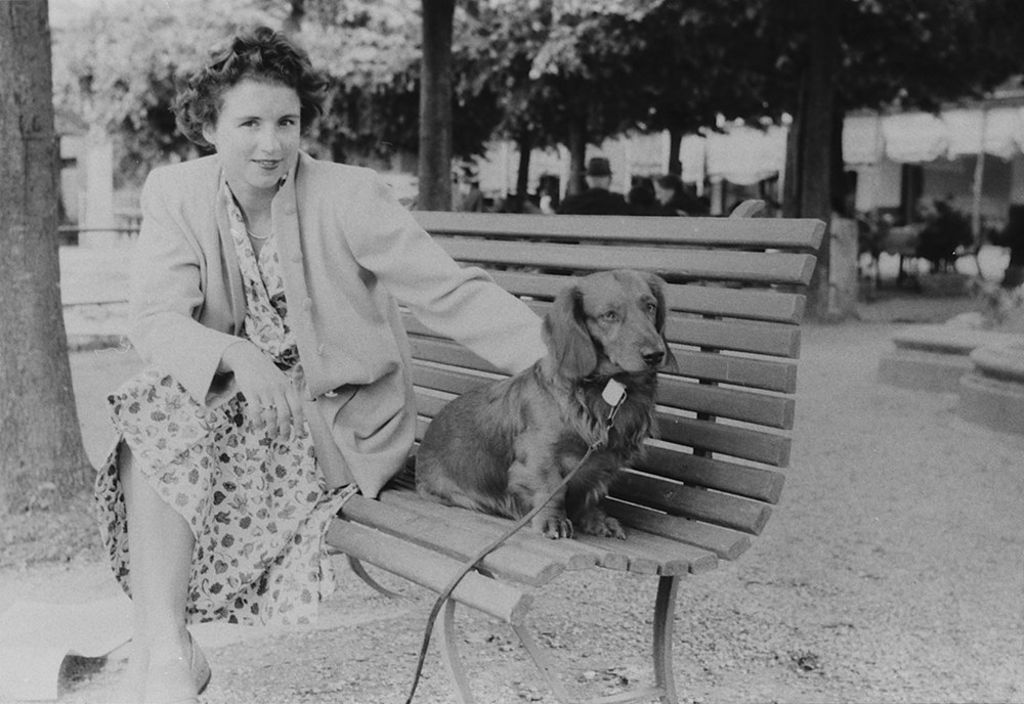 Woman with her dog