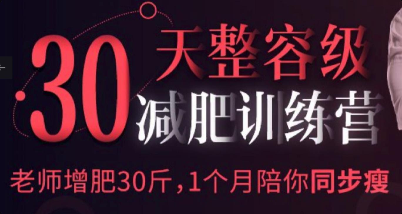 30天减脂特训营(完结)