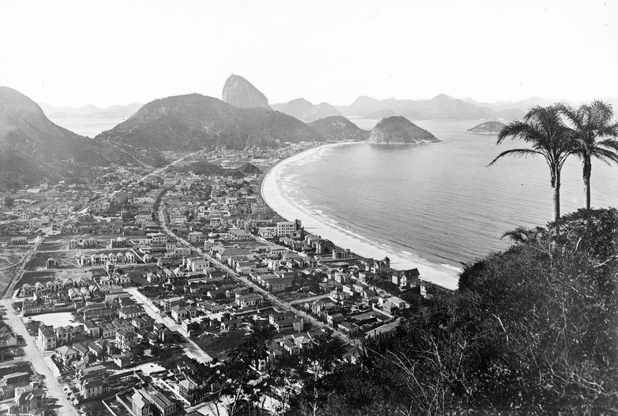 A view of Copacabana, in Rio de Janeiro, Brazil, in October of 1921.