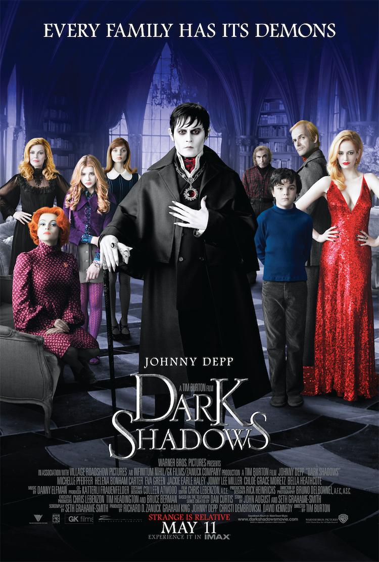《黑暗阴影》电影评价:蒂姆·波顿向同名电视剧致敬之作-爱趣猫