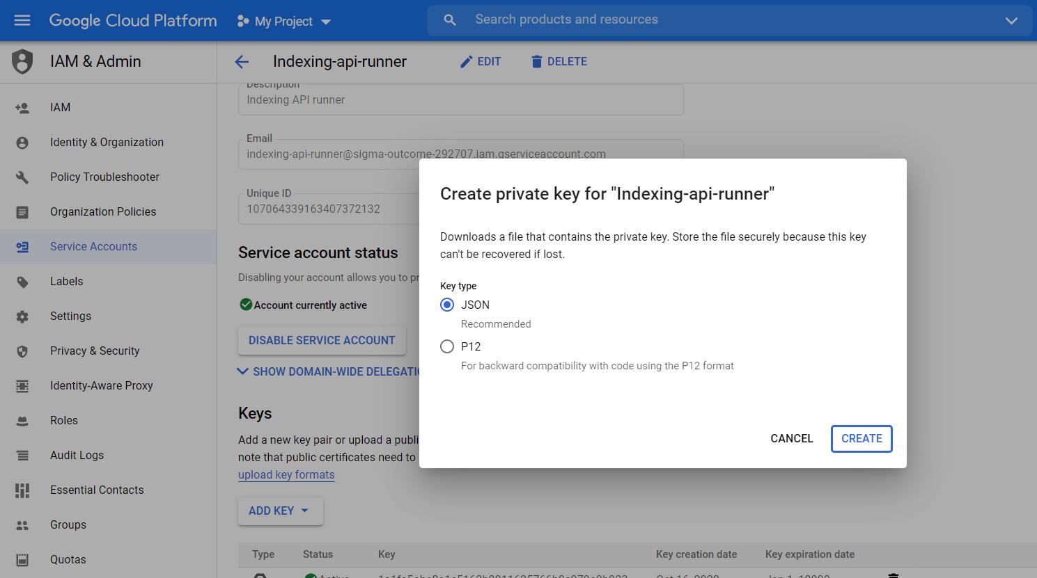 Google服务帐号页面-极客中心
