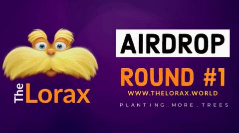 The Lorax第一轮空投,每个参与者得1.9亿LORAX令牌,每推荐1人得3.2千万币