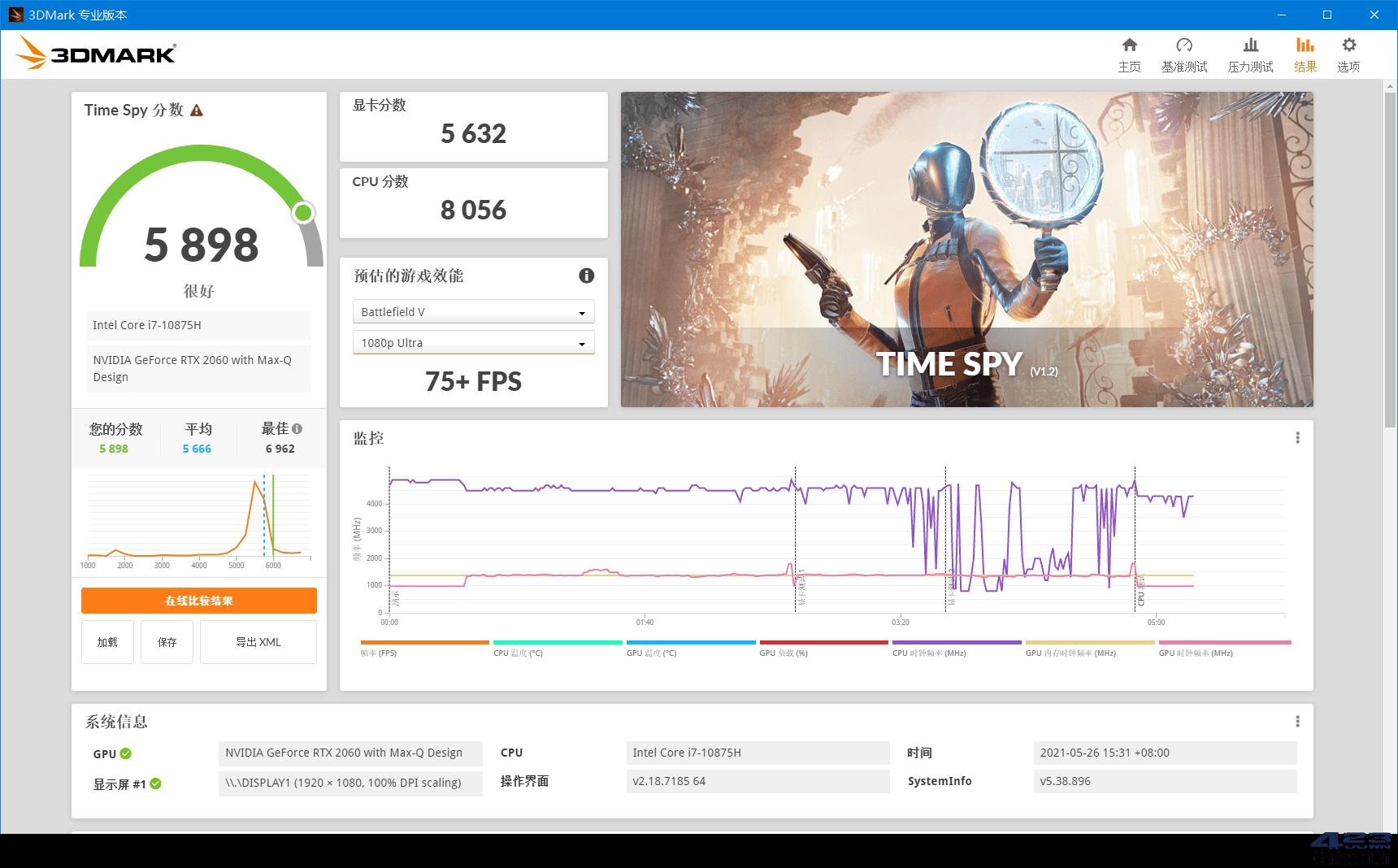 显卡跑分软件 3DMark 2.20.7290 解锁专业版