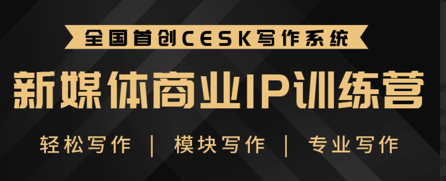 新媒体商业IP训练营