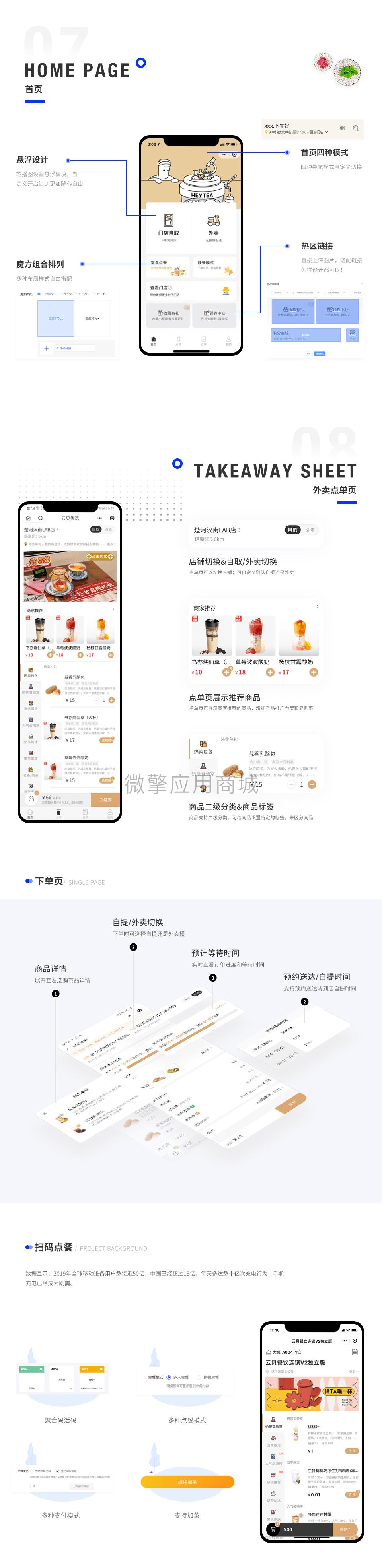 【微信小程序】独立版云贝餐饮连锁小程序V2_2.1.0,一款全端餐饮外卖小程序 小程序 第2张