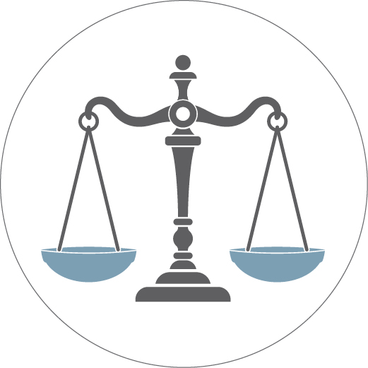 Illustration of the scales of justice (State Dept./J. Maruszewski)