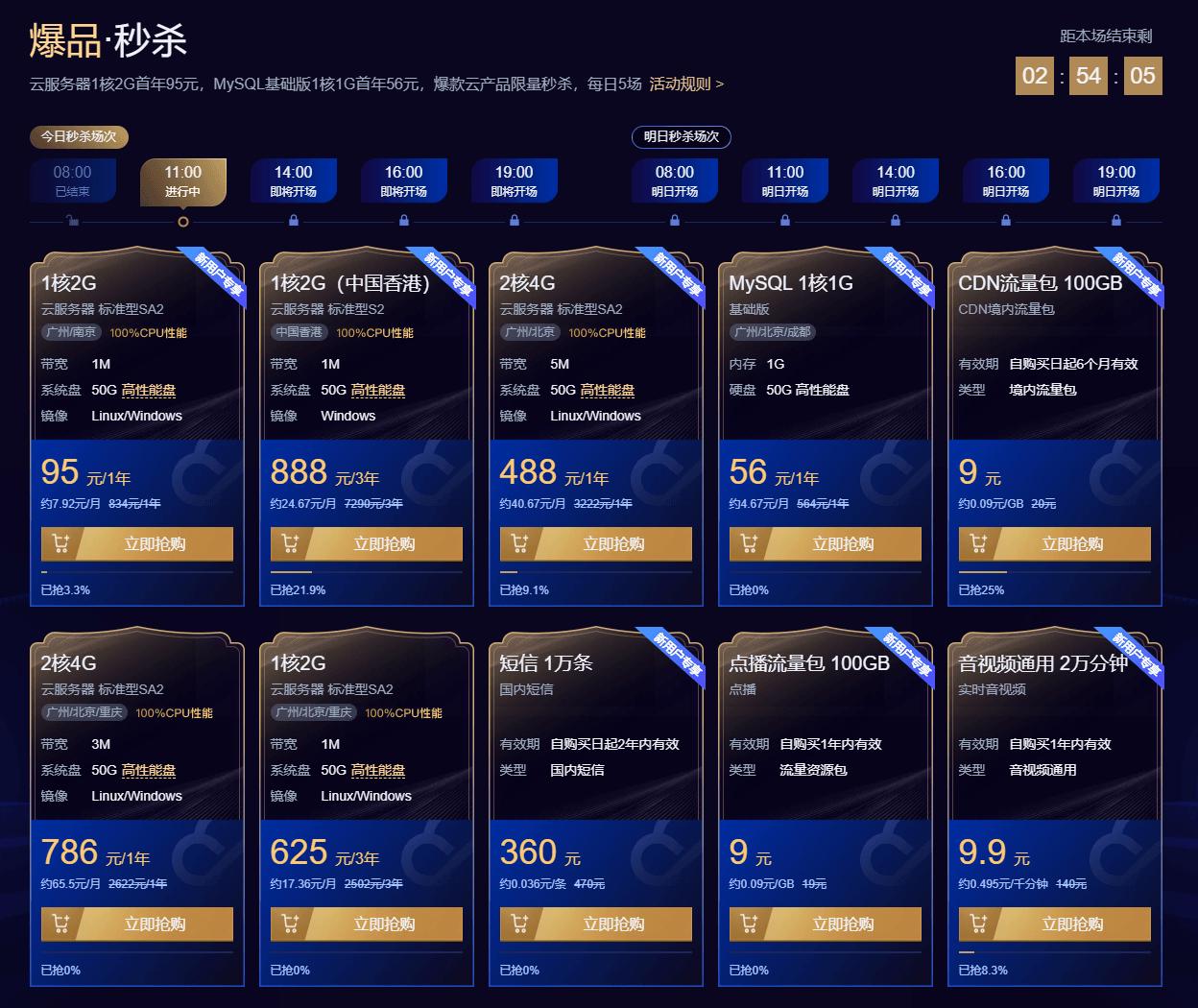 腾讯云95元1年云服务器
