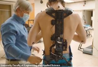 首款可移除能量的外骨骼问世,仅重0.68公斤,降低步行新陈代谢同时发电