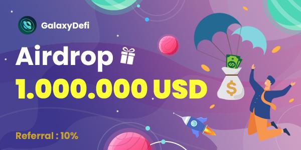 GalaxyDefi:完成电报推特社交任务,瓜分100万美金GLX代币空投!