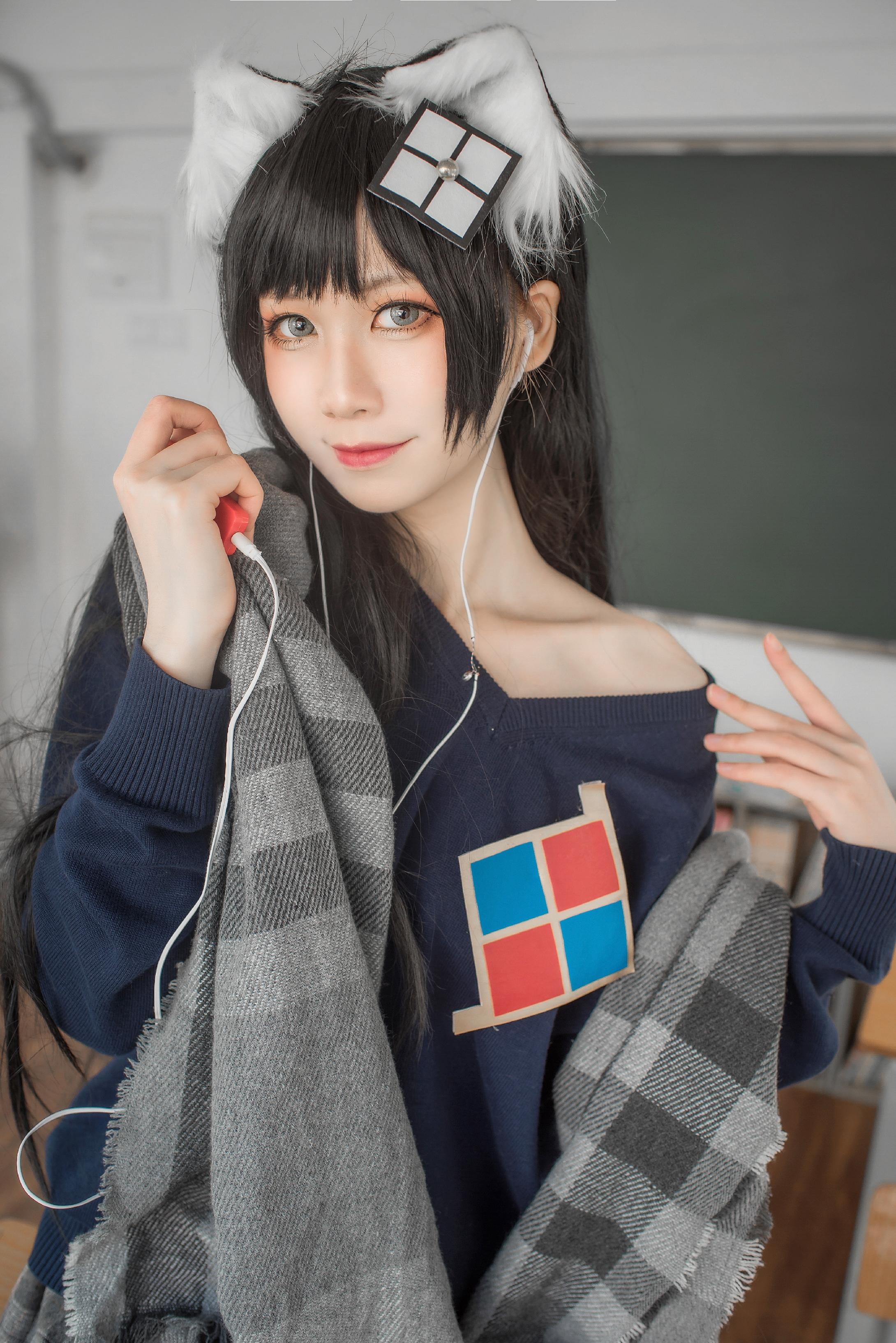 izumi泉桃子 纯白毕业季主题COS作品分享-觅爱图