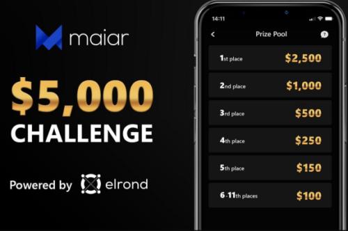 Maiar:价值5000美金的eGold代币空投活动!