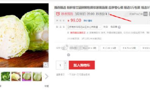 9点秒杀1元包邮豫西臻选 新鲜绿甘蓝鲜嫩包菜农家菜蔬