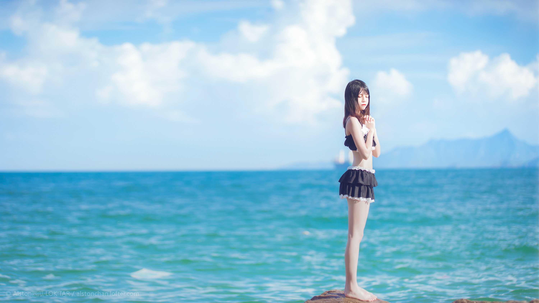 免费⭐微博红人⭐桜桃喵@写真cos-一起去海边吧(桜桃喵)【10P】插图8