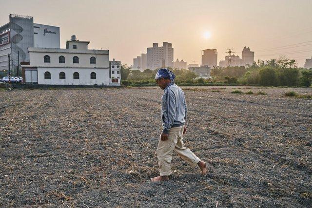 田守喜的土地遭遇干旱。台湾已经关闭了数万英亩农田的灌溉。