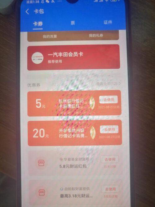 支付宝大毛(20十5)