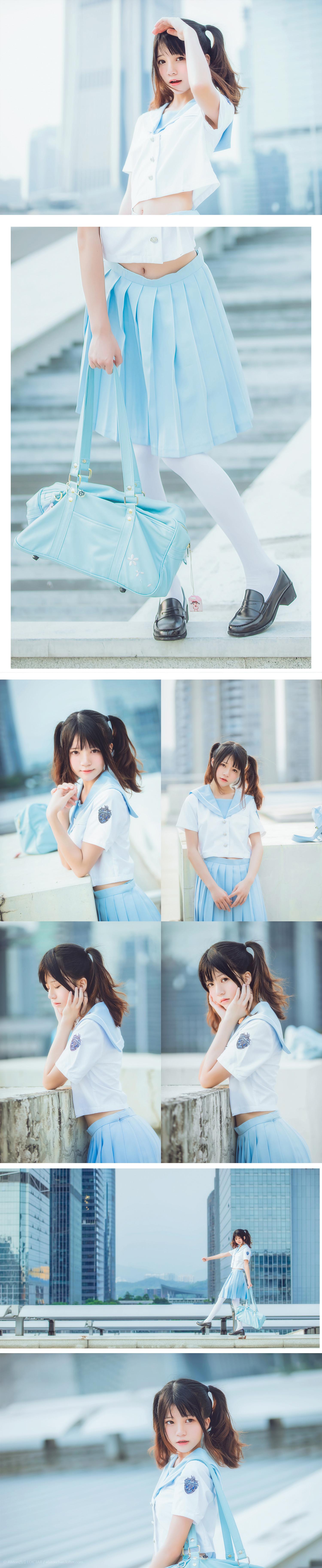免费⭐微博红人⭐桜桃喵@写真cos-穿制服的样子(桜桃喵)插图7