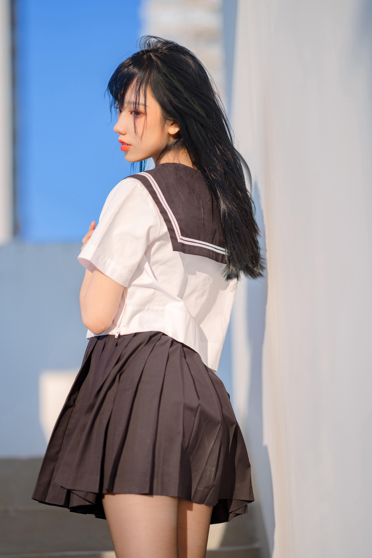 微博妹子@果咩酱w JK制服主题写真在线看-觅爱图