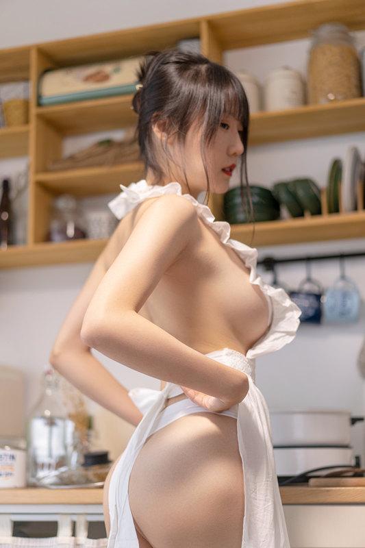 图片[1]-香草喵露露 NO.014 厨娘[55P1V]-醉四季