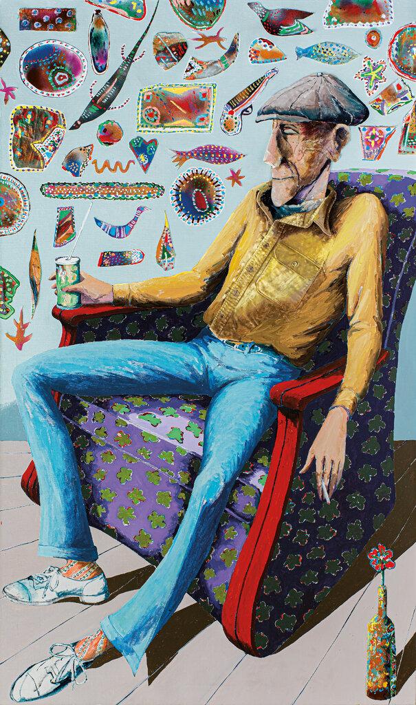 """1986年创作的乔治·C·安德鲁斯的肖像,这是作者的父亲。""""安德鲁斯的所有肖像图都以温柔著称,尤其是那些他最亲近的人的画像,""""我们的评论家说道。"""
