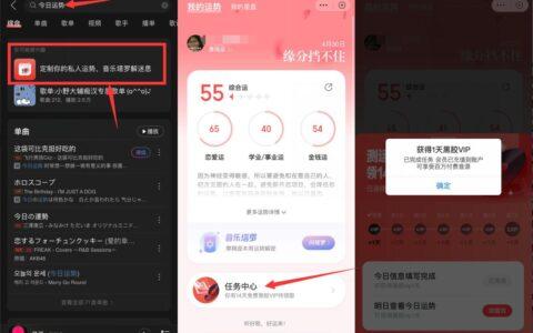 【网易云音乐领14天黑胶VIP】打开网易云App->首页搜索