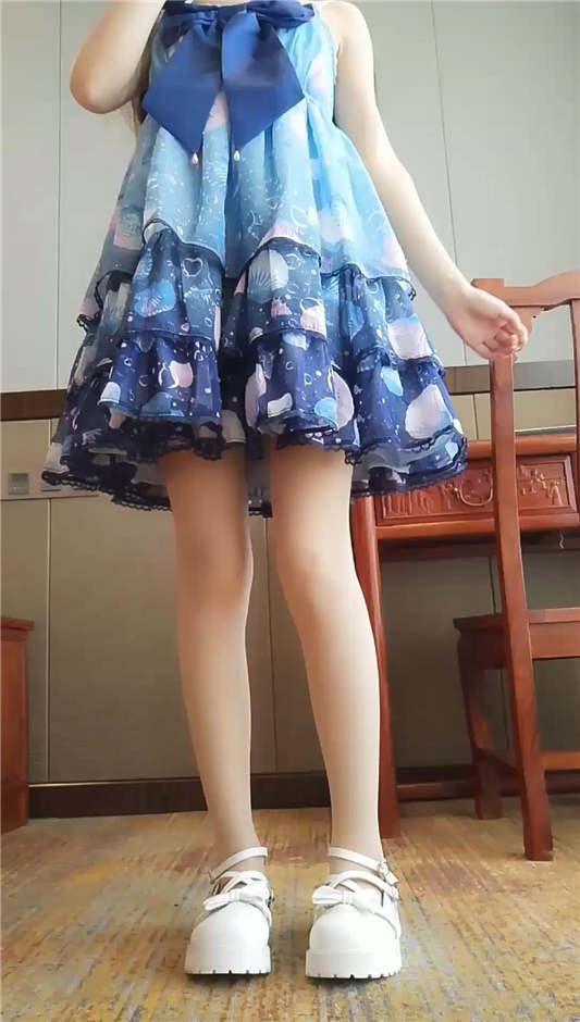 软萌萝莉小仙 最新 - 蓝色洛丽塔[1V/1.45G]