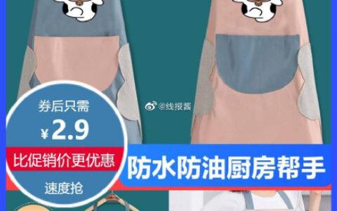 围裙 2.9围裙家用厨房