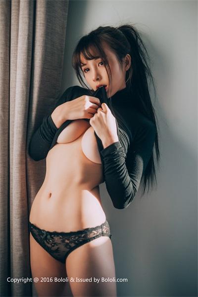 ⭐BOLOLI波萝社⭐夏美酱-2017.03.13BOL029夏美酱黑色诱惑[31P/191MB]插图(4)
