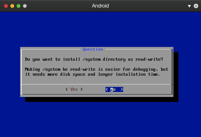 是否将/system目录设为可读写,毕竟只是玩玩,我就不设置了