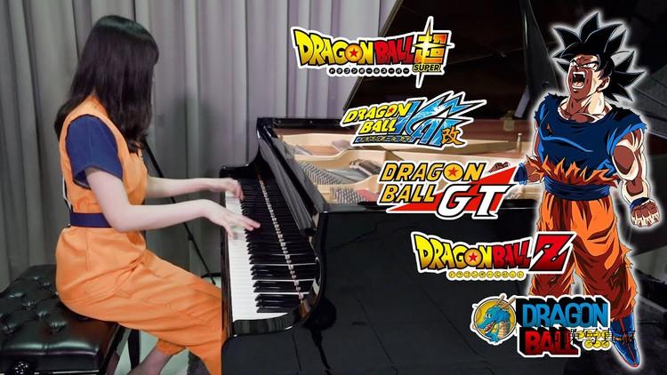 清纯钢琴家@Ru味春卷写真图片,边Cosplay边弹琴很有意境