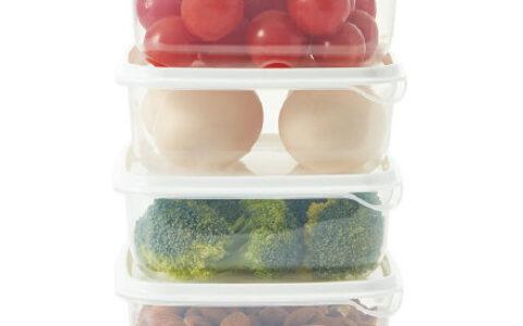 【猫超包邮】餐厅厨房冰箱保鲜盒4件套【7.8】 【拾来