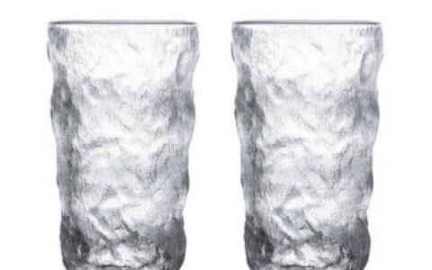 【京东】惠寻 日式冰川纹玻璃杯 高款350ml*2 极速版【
