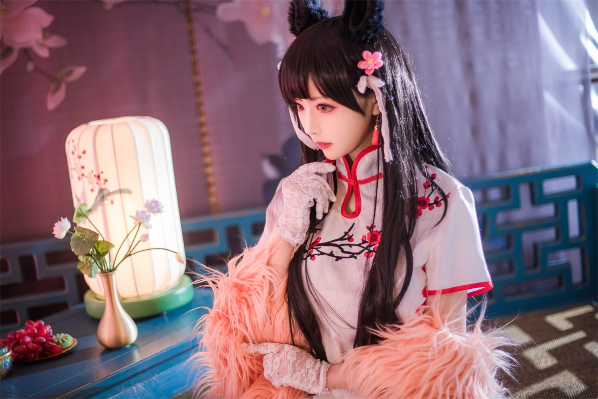 ⭐微博红人⭐Shika小鹿鹿-cos福利图片@爱宕旗袍插图1