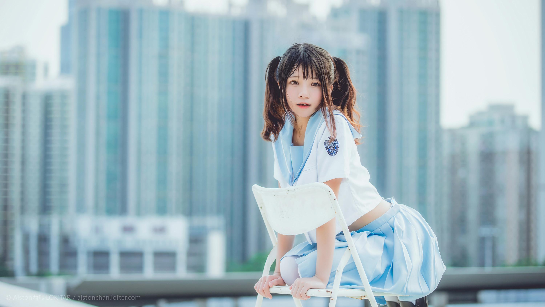 免费⭐微博红人⭐桜桃喵@写真cos-穿制服的样子(桜桃喵)插图2