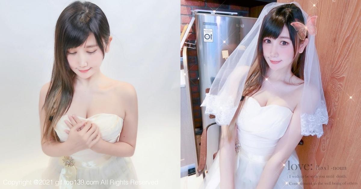 脸蛋甜美的电玩coser「四月桐宝宝」 婚纱造型网友好想娶!