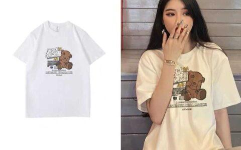 3件拍3件39.9元夏季新款纯棉情侣短袖T恤--新款短
