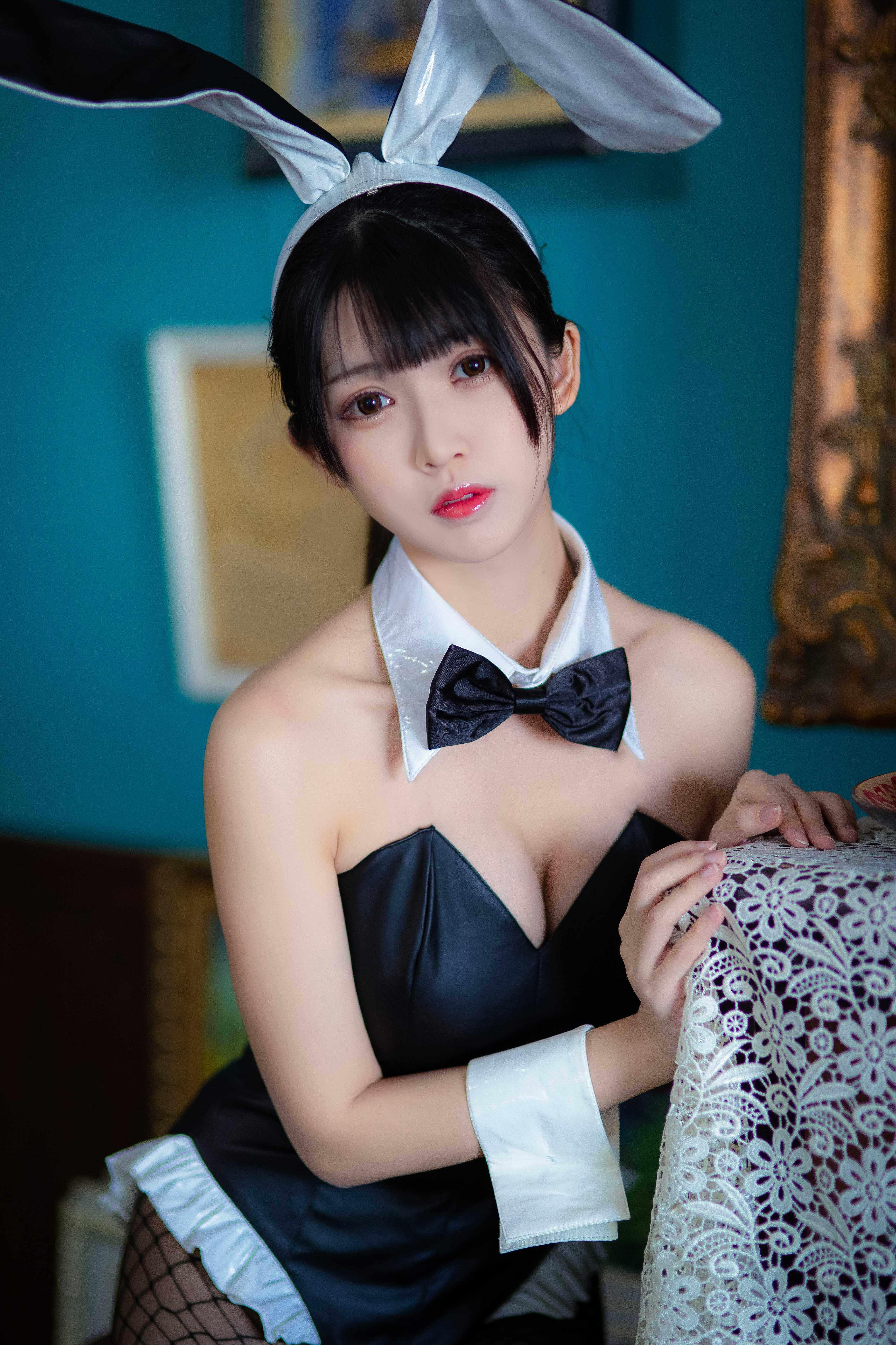 ⭐微博红人⭐鳗鱼霏儿Cos-加藤惠 兔女郎3.jpg